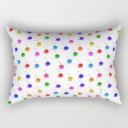 3D Glass Rainbow Cherries Pattern  Rectangular Pillow
