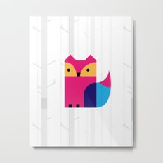 THE MISSING SCARF - Fox Metal Print