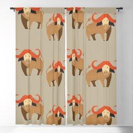 Whimsy Cape Buffalo II Blackout Curtain