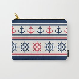 Blue Pink Sea Navy Pattern Carry-All Pouch
