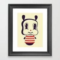 Cute bunny Framed Art Print