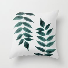 Leaves 3A Throw Pillow