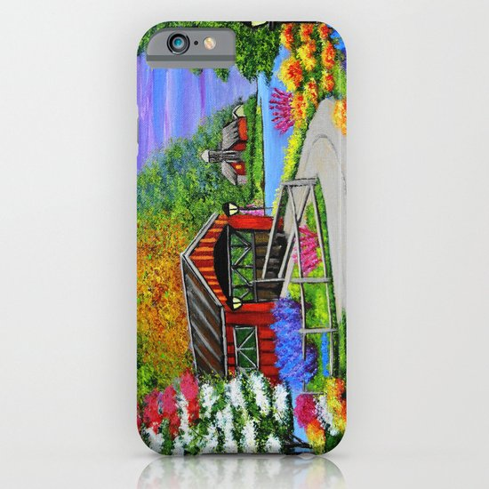 Covered bridge to town  iPhone & iPod Case
