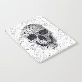 Doodle Skull BW Notebook