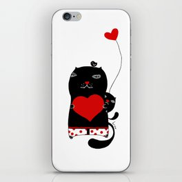 Cats with hearts iPhone Skin