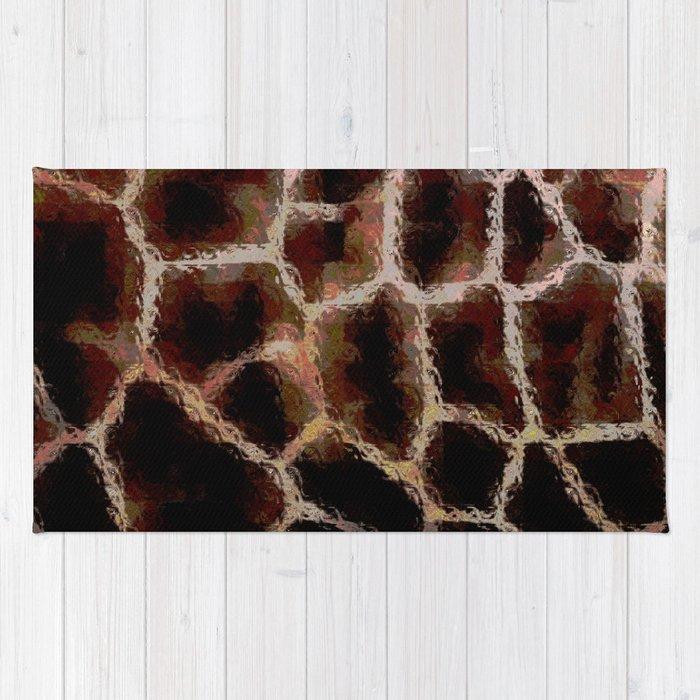 Brown Animal Print Rug