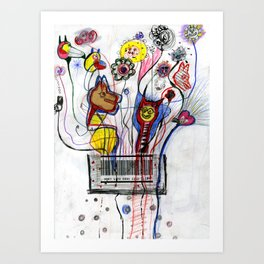 Barcode Party Art Print