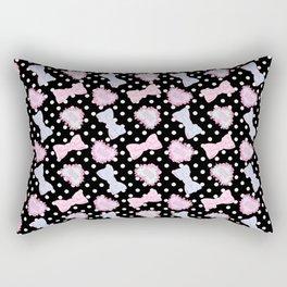 Pretty Baby Brand Whore Allover Black Rectangular Pillow
