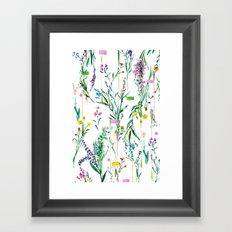 Fleur botanique Framed Art Print