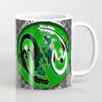 ying yang Mugs featuring ying yang by Nerd Artist DM