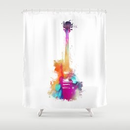 Funky Guitar Shower Curtain