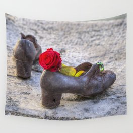Shoes On The Danube Wall Tapestry