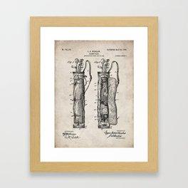 Golf Bag Patent - Caddy Art - Antique Framed Art Print