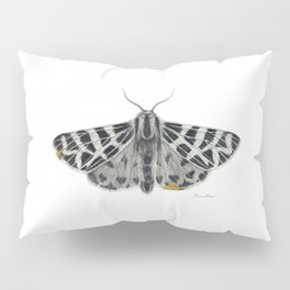 Kintsugi - A Graphite Drawing of a Moth by Brooke Figer Pillow Sham