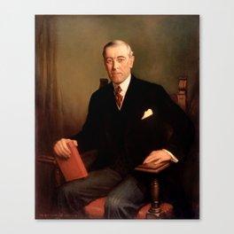Woodrow Wilson Presidential Portrait - Frank Graham Cootes Canvas Print