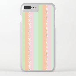 Sherbert Pastel Stripes Clear iPhone Case