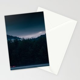 4am on 4th lake Stationery Cards