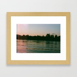 glow on the water Framed Art Print