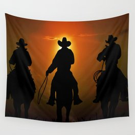 Riders To The West Wall Tapestry