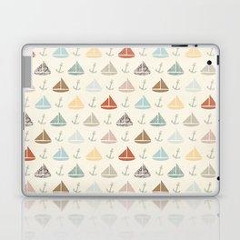 boats and anchors pattern Laptop & iPad Skin