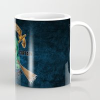 quidditch Mugs featuring Slytherine quidditch team captain by JanaProject