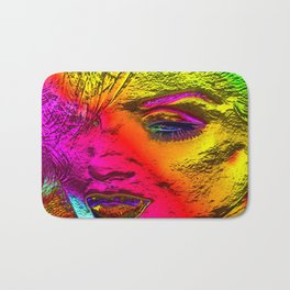 Art is the Face. Vintage Blonde Bombshell in our Marilyn Pop Art Style. Bath Mat