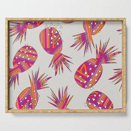 Geometric Pineapples Summer Print Serving Tray