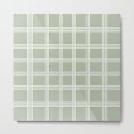 Grid on a Grey Background Metal Print