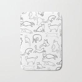 Monochrome cats Bath Mat