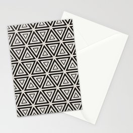 Decorative Triangles Pattern Stationery Cards