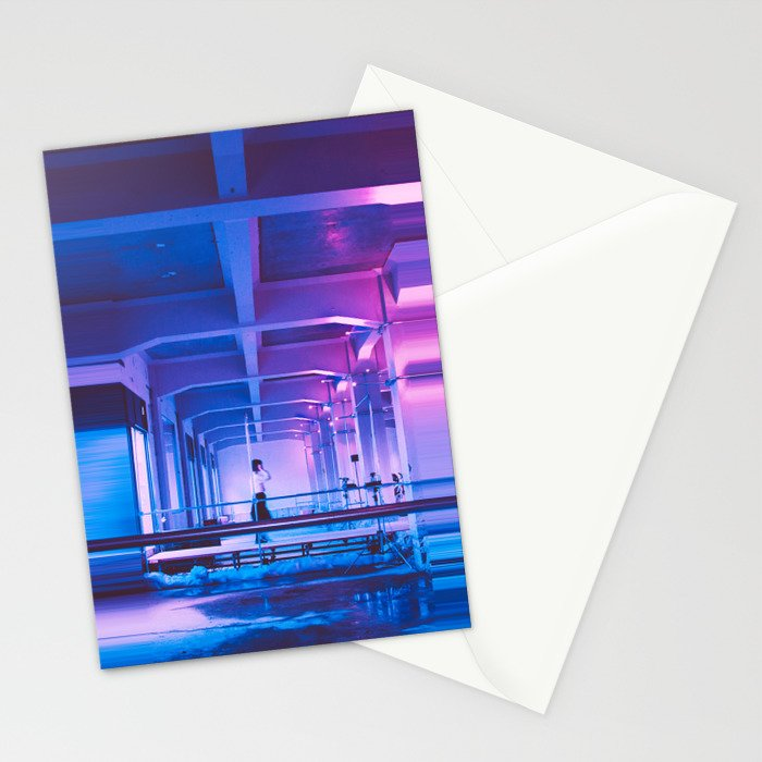 Glitchy Dreams Of You Stationery Cards