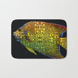 Tropical Fish 12 - Abstract Art By Sharon Cummings Bath Mat