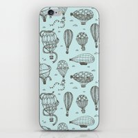 hot air balloons iPhone & iPod Skins featuring Hot Air Balloons by Matt Andrews