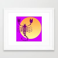 scorpio Framed Art Prints featuring Scorpio by Geni