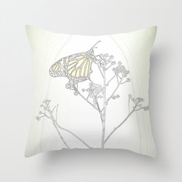 """Grafik 030"" Butterfly Art by Murray Bolesta Throw Pillow"