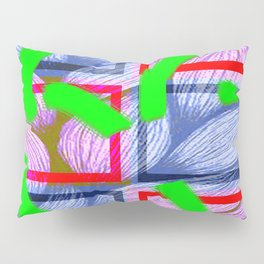 Collage with hair weave effect Pillow Sham