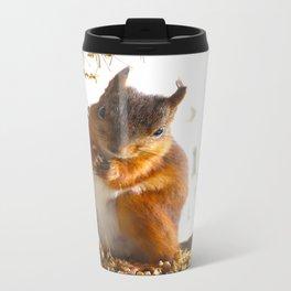 Mommy Squirrel  Metal Travel Mug