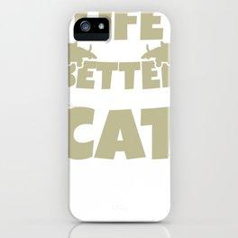 Cat tomcat gift Maine Coon Persian cat Siam iPhone Case