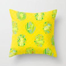 Picnic Pals animals in citrus Throw Pillow