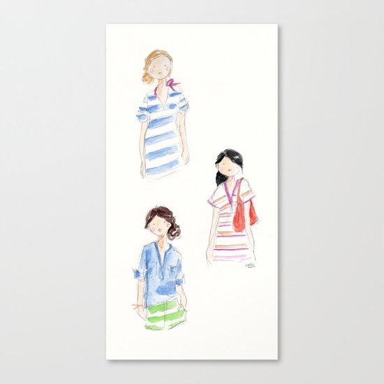 J Crew Summer Girls Canvas Print