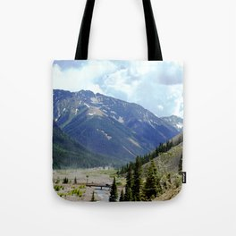Looking Downstream toward Silverton from the Sunnyside Mill at Eureka Tote Bag
