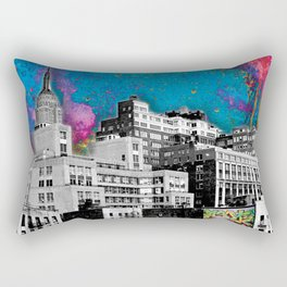 Paint The Town Rectangular Pillow