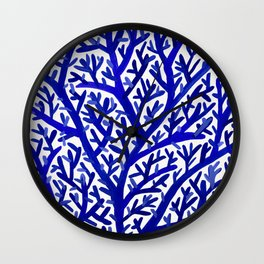 Fan Coral – Navy Wall Clock