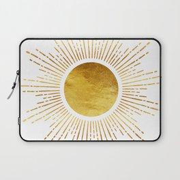 Golden Sunburst Starburst White Hot Laptop Sleeve