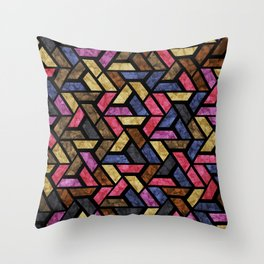 Seamless Colorful Geometric Pattern XIII Throw Pillow