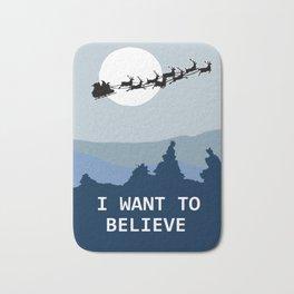 I want to believe in Santa Bath Mat