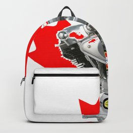 Canadian Portuguese Motorcycle Culture Backpack