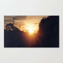 Golden Milk Sky Canvas Print