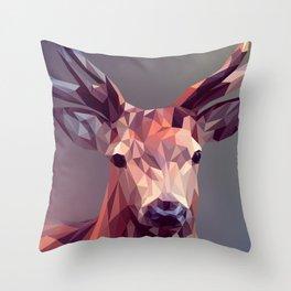 Abstract geometric deer art Throw Pillow