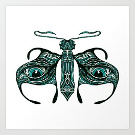 Moth the just pokes out under the sleeve. Art Print